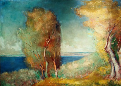 Late summer landscape at Lake Garda - Lesser Ury