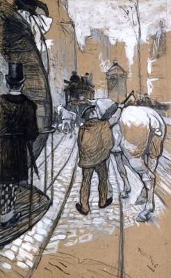 Le côtier de la compagnie des omnibus - Henri de Toulouse-Lautrec
