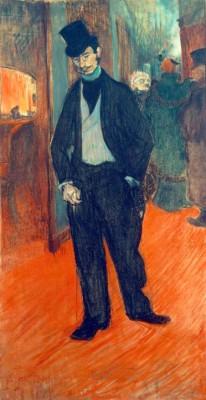 Le Docteur Tapié de Céleyran dans un couloir de théâtre - Henri de Toulouse-Lautrec