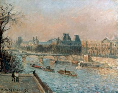 Le Louvre, Après-Midi - Camille Pissarro