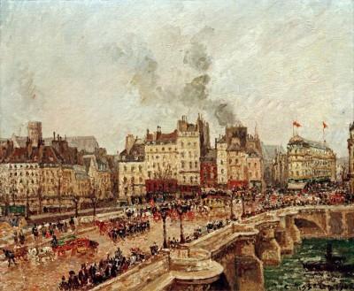 Le Pont Neuf - Camille Pissarro
