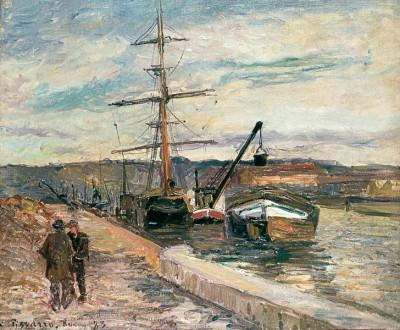 Le Port de Rouen - Camille Pissarro