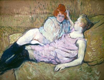 Le sofa - Henri de Toulouse-Lautrec