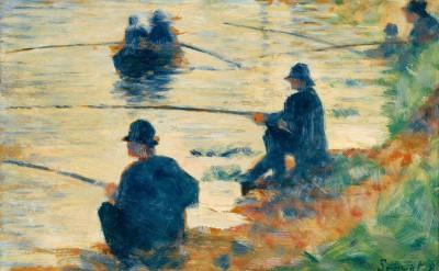 Les pecheurs a la ligne – fishermen - Georges-Pierre Seurat