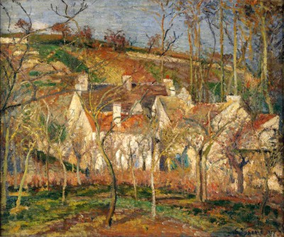 Les toits rouges, coin de village, effet d'hiver - Camille Pissarro