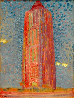 Leuchtturm bei Westkapelle - Piet Mondrian
