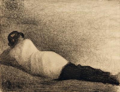 Liegender Mann - Georges-Pierre Seurat
