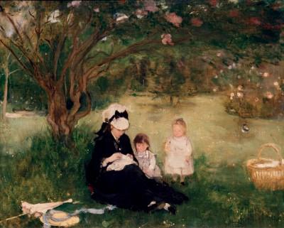 Lilac in Maurecourt - Berthe Morisot