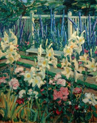 Lilies in the garden Muthesius - Julie Wolfthorn