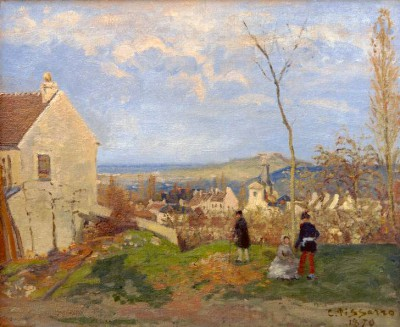 Louveciennes with Mount Valérien in the background - Camille Pissarro