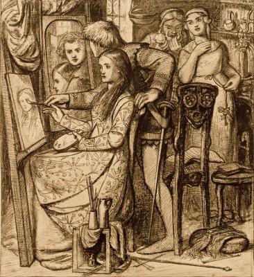Love's Mirror - Dante Gabriel Rossetti