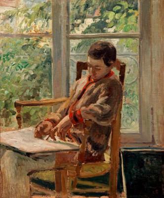 Lucien Pissarro in his room - Camille Pissarro
