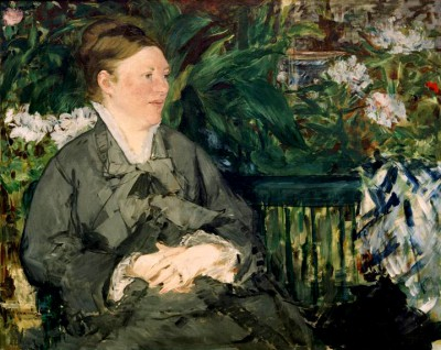 Madame Manet in the Conservatory - Édouard Manet