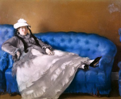 Madame Manet on Blue Sofa - Édouard Manet