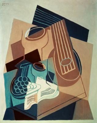 Mandoline und Weinbeeren - Juan Gris