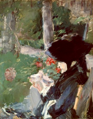 Manet's Mother in the Garden of Bellevue - Édouard Manet