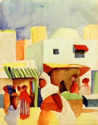 Markt in Tunis I - August Macke