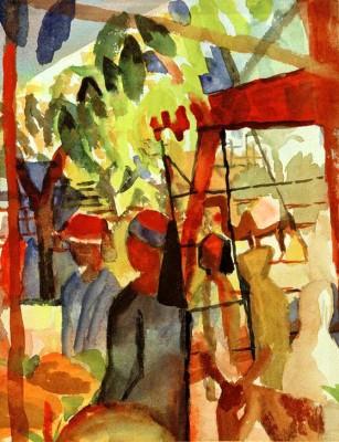 Marktleben - August Macke