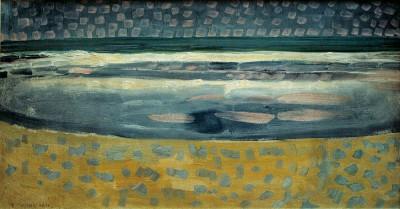 Meer bei Sonnenuntergang - Piet Mondrian