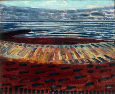 Meer nach Sonnenuntergang - Piet Mondrian