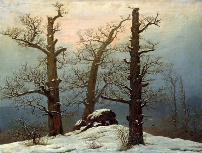 Megalithic grave in the snow - Caspar David Friedrich
