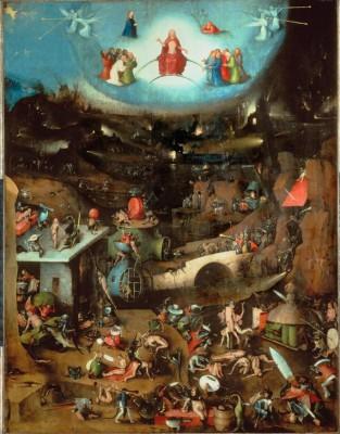 Mitteltafel des Weltgerichts-Triptychons - Hieronim Bosch