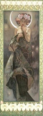 Mondschein - aus dem Zyklus Vier Sterne - Alfons Mucha