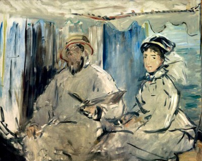 Monet and his wife Camille - Édouard Manet