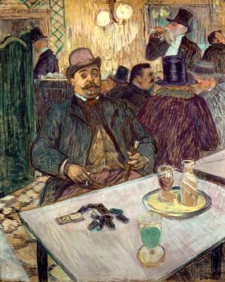 Monsieur Boileau au café - Henri de Toulouse-Lautrec