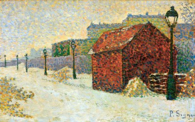 Montmartre in snow - Paul Signac