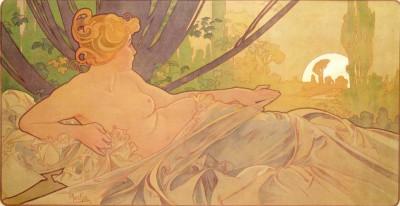 Morgendämmerung - Alfons Mucha