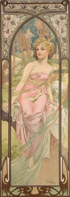 Morgenerwachen - Die Tageszeiten (2) - Alfons Mucha