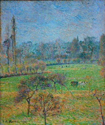Morning, autumn, Eragny - Camille Pissarro
