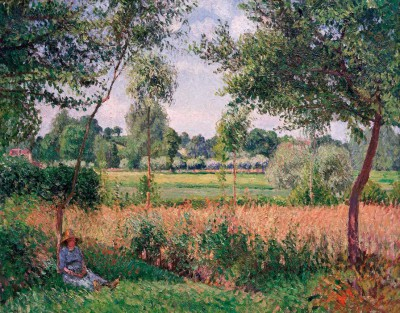 Morning, sun, Eragny - Camille Pissarro