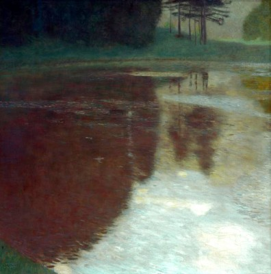 MORNING BY THE POND - Gustav Klimt