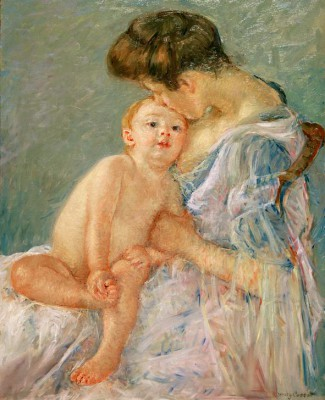 Mother Kissing Her Baby - Mary Cassatt