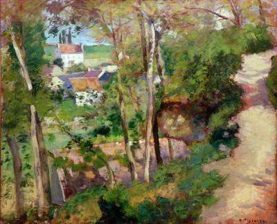 Mountain path, L'Hermitage, Pontoise - Camille Pissarro