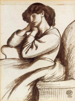 Mrs William Morris - Dante Gabriel Rossetti