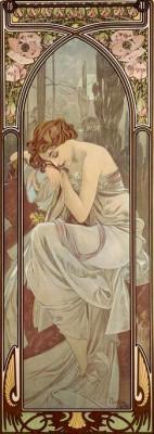 Nachtruhe - Die Tageszeiten (2) - Alfons Mucha