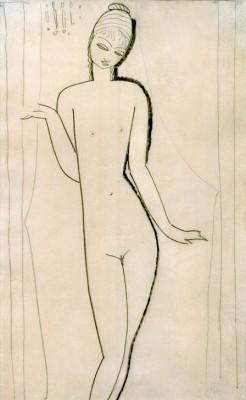 Nacktes junges Mädchen – Karyatide - Amedeo Modigliani