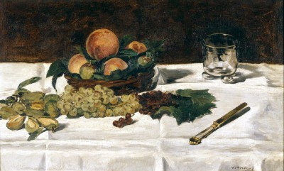 Nature morte fruits sur une table - Édouard Manet