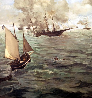 Naval Action between the Kearsarge and the Alabama - Édouard Manet