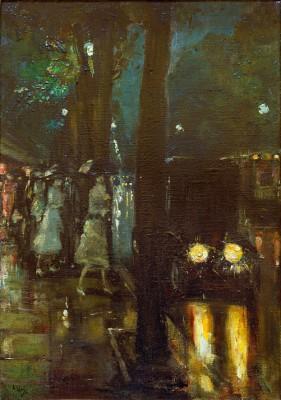 Night scene at the Kurfürstendamm - Lesser Ury