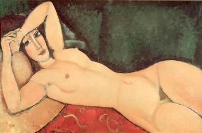 Nu couche, un bras replie sur le front - Amedeo Modigliani