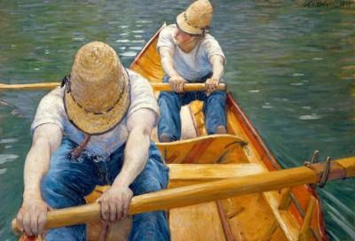 Oarsmen - Gustave Caillebotte