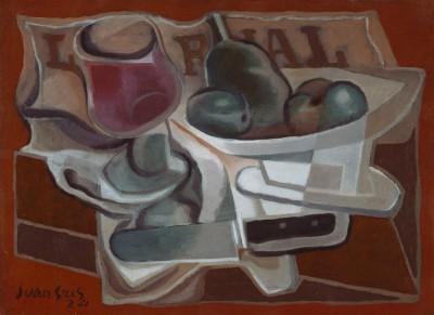 Obstschale und Glas - Juan Gris
