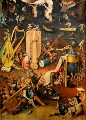 Ogród rozkoszy ziemskich - piekło fragment - Hieronim Bosch