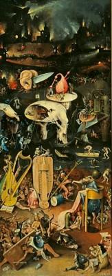 Ogród rzkoszy ziemskich - prawe skrzydło - Hieronim Bosch