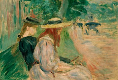 On a bench in the Bois de Boulogne - Berthe Morisot
