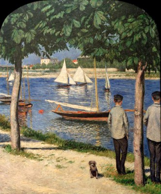 On the banks of the Seine in Petit Gennevilliers - Gustave Caillebotte